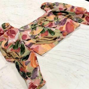 SHEIN Floral Crop Blouse